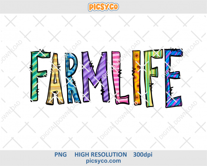 Farm life png, hand drawn digital download file for sublimation print