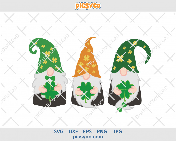 Download Gnomes svg, St Patricks day, file for cutting and ...