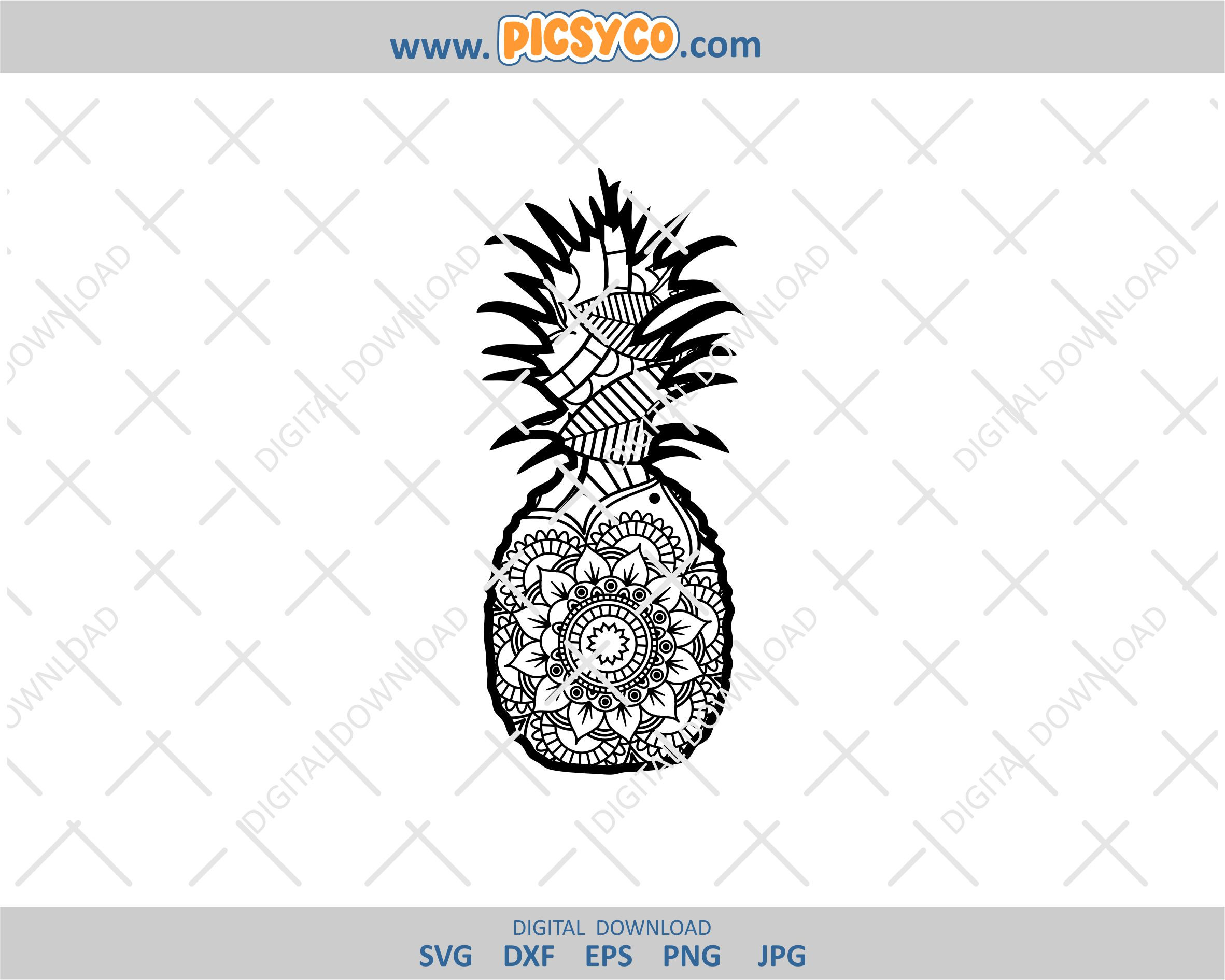 1234+ Pineapple Mandala Svg Free – SVG,PNG,EPS & DXF File Include